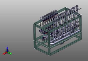 Preassembled valve skid / 3D Drawing